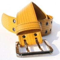 Big Yellow Firehose Belt by Elvis & Kresse | Eco Gifts